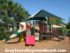 The little ones will enjoy hours of fun at GreyStone's on-site playground adjacent to the clubhouse and pool.