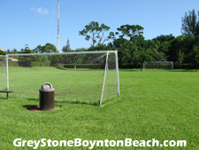 Soccer practice need not involve a drive to a Boynton Beach public park when this soccer field is available within the Greystone community (near the clubhouse).