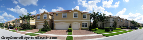 A section of attached townhomes is also to be found within Boynton Beach's Greystone.